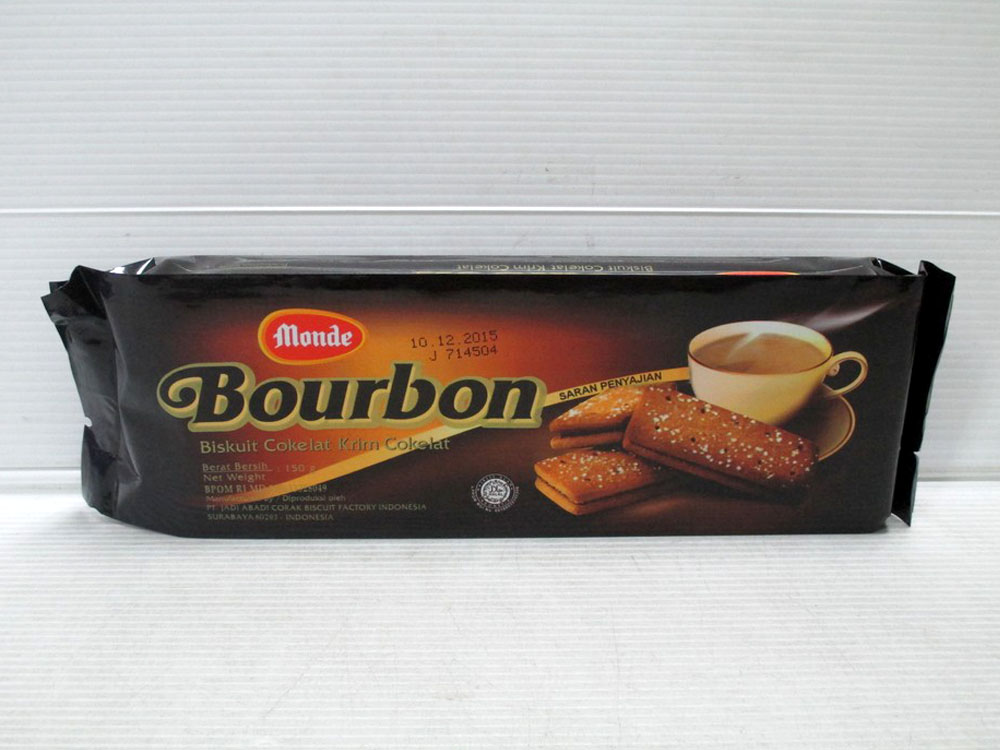 Monde Bourbon Chocolate Filling Biscuits 150gr x 36pcs