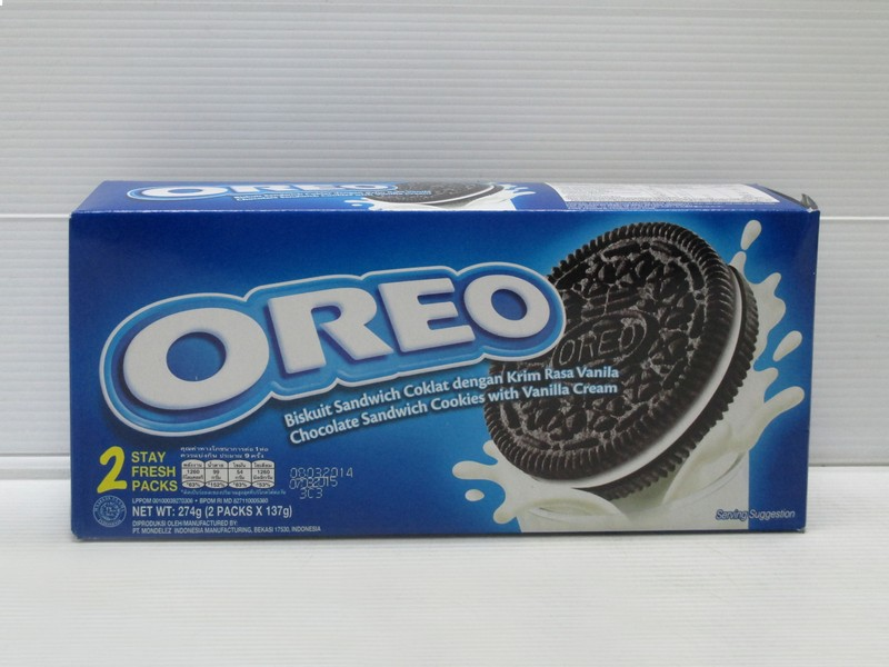 Oreo Biscuit Vanilla Cream 274gr x 12box