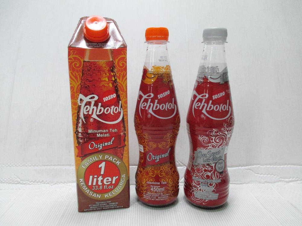 Teh Botol Sosro 1 liter dan 450ml