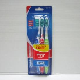 Oral-B All Rounder 123 Clean Medium 3's