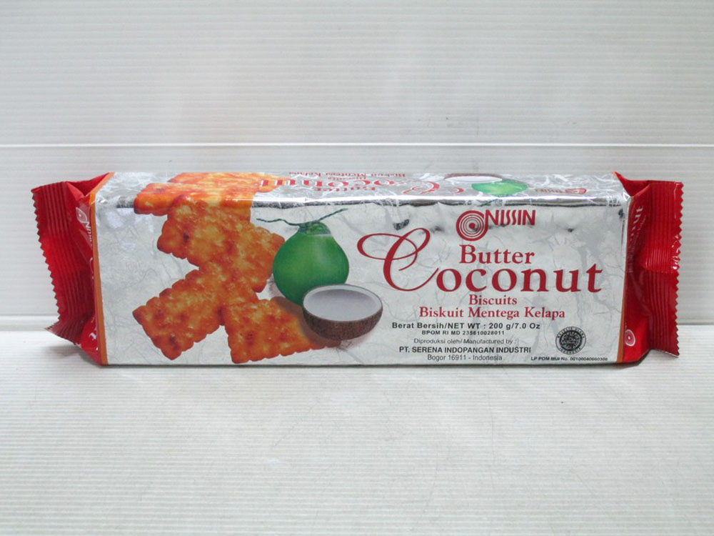 Nissin Butter Coconut Biscuits 200gr x 24pcs