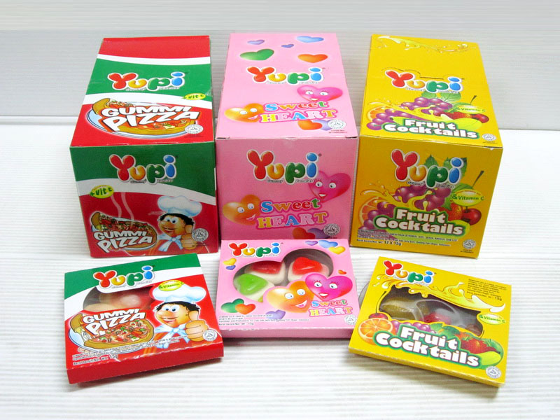 Yupi Gummy Candy 15gr x 12pcs x 12box