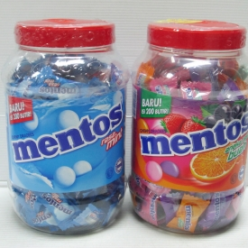 Mentos Candy Jar 200's 540gr x 12jar