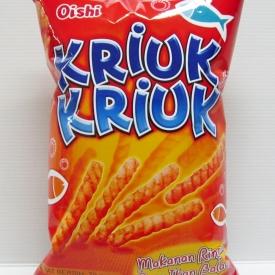 Oishi Kriuk-Kriuk Snack Ikan Balado Flavor 70gr - front