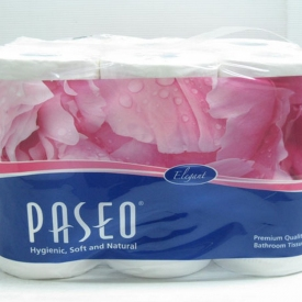Paseo Tissue White 4bundle x 12roll x280sheet x 3ply